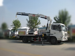5 ton Flatbed Wrecker with Crane