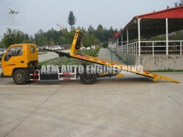 2 ton Car Carrier Flatbed Wrecker with Ladder