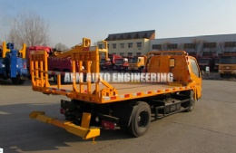 2 Ton Full Landing Low Angle Flatbed Wrecker with Ladder